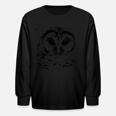 Barred Owl Barred Owl img_2940_5a - Kids' Long Sleeve T-Shirt