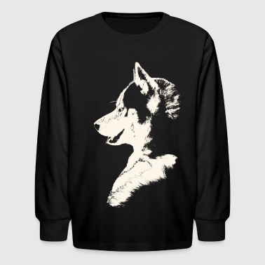 Siberian Husky Shirts Malamute T-shirts & Gifts  - Kids' Long Sleeve T-Shirt