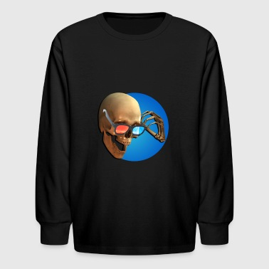 3D Movies are a Skull lot of fun - Kids' Long Sleeve T-Shirt