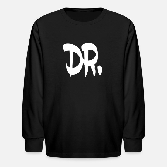 Dr T-Shirts - Dr. - Kids' Longsleeve Shirt black