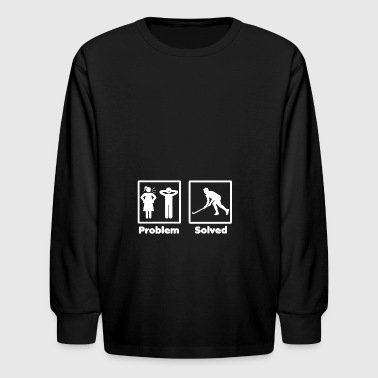 Problem Solved Hockey problem solved hockey eishockey 2 - Kids' Long Sleeve T-Shirt