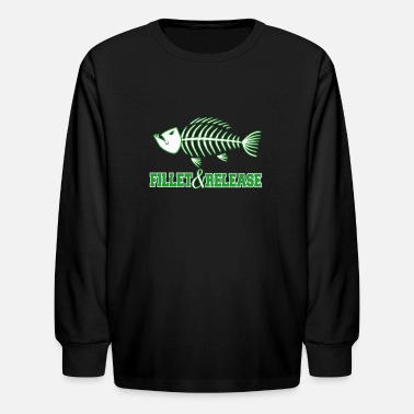 Fillet Fillet and release - Kids' Longsleeve Shirt