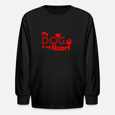 My Heart my dog is my heart - Kids' Longsleeve Shirt