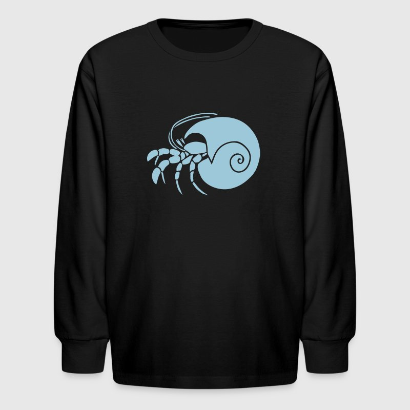 hermit crab crayfish cancer shrimp prawn lobster ocean snail conch seafood sea food shellfish - Kids' Long Sleeve T-Shirt