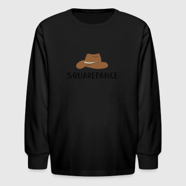 Squaredance - Kids' Long Sleeve T-Shirt