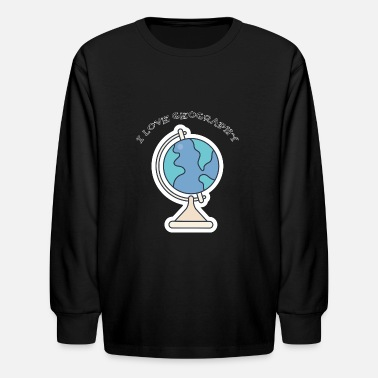 I Love Geography School 2018: I Love Geography - Kids' Long Sleeve T-Shirt