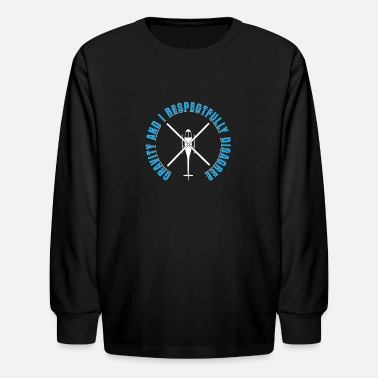 Airscrew Gravity And I Respectfully Disagree Helicopter - Kids' Longsleeve Shirt