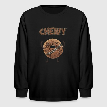 Funny Nerd Humor - Chewy Chocolate Cookie Wookiee - Kids' Long Sleeve T-Shirt
