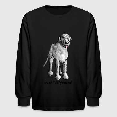 Irish Wolfhound Cute Irish Wolfhound - Kids' Long Sleeve T-Shirt