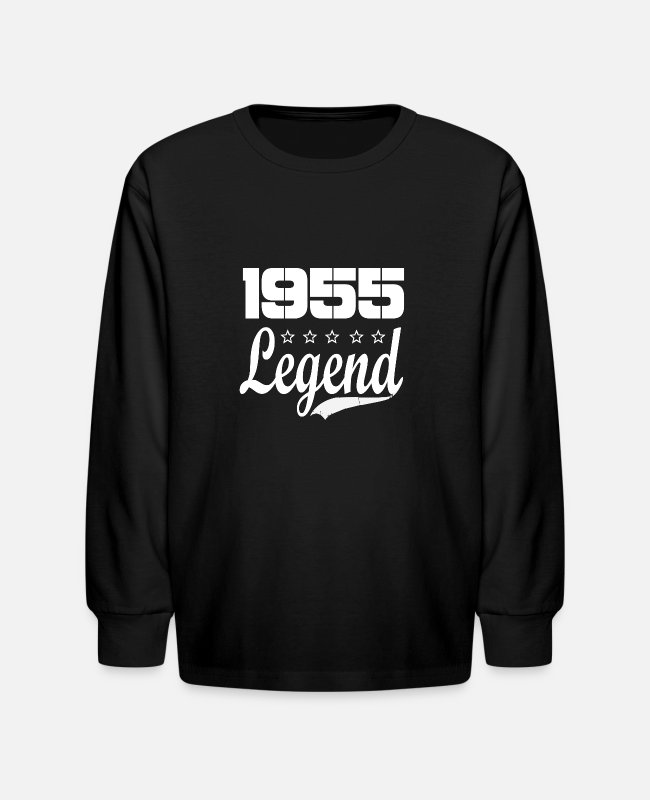 Born In Long-Sleeved Shirts - 55 legend - Kids' Longsleeve Shirt black