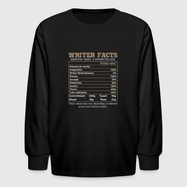 Writer Facts Shirt - Kids' Long Sleeve T-Shirt