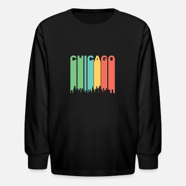 Vintage Chicago Vintage Chicago Cityscape - Kids' Longsleeve Shirt