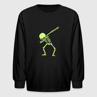 Dabbing Skeleton Dance - Kids' Long Sleeve T-Shirt