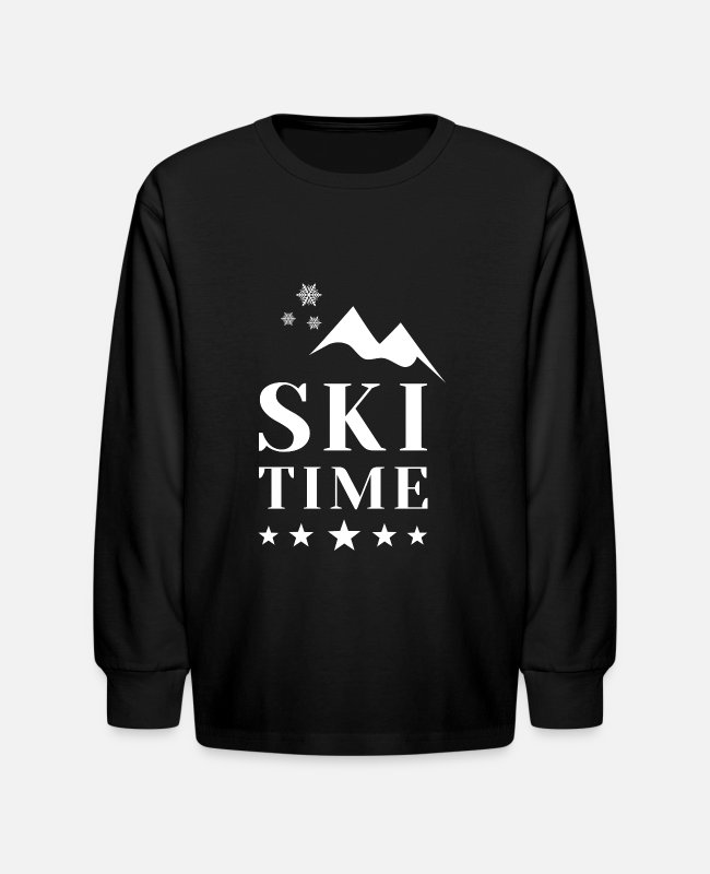 Downhill Long-Sleeved Shirts - Ski ski instructor ski jumping biathlon gift - Kids' Longsleeve Shirt black