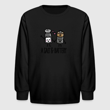A salt and battery - Kids' Long Sleeve T-Shirt