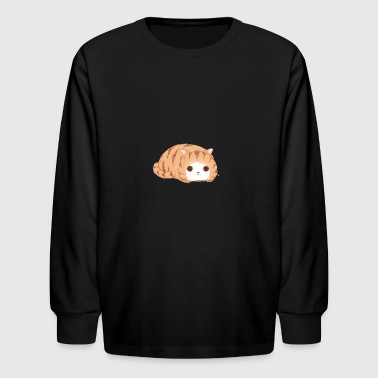 Cute sleepy cat kitty miau - Kids' Long Sleeve T-Shirt