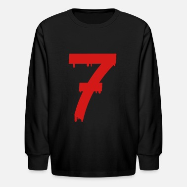 Number lucky number seven - Kids' Long Sleeve T-Shirt