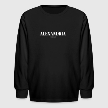 State Of Virginia VIRGINIA ALEXANDRIA US DESIGNER EDITION - Kids' Long Sleeve T-Shirt