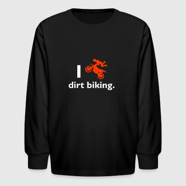 Dirt biking - Kids' Long Sleeve T-Shirt