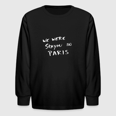 The Chainsmokers Paris - Lyrics B - Kids' Long Sleeve T-Shirt