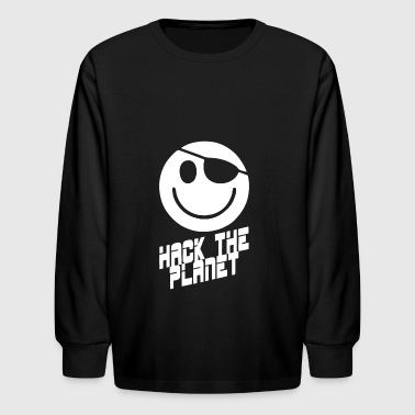 HACK THE PLANET - Kids' Long Sleeve T-Shirt
