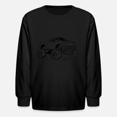 Lifted Toyota Tundra Extended cab pickup Truck  - Kids' Longsleeve Shirt