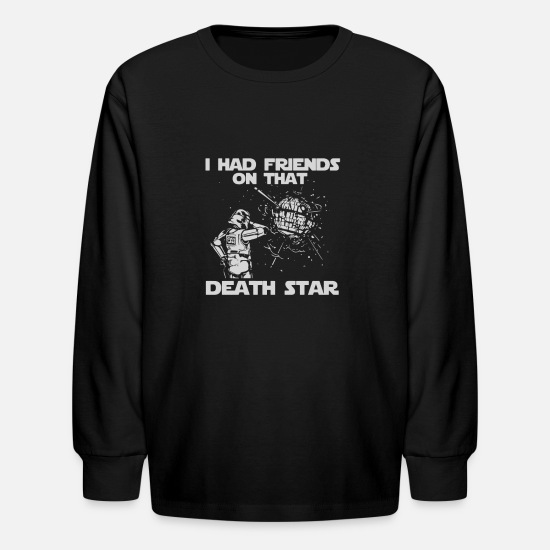 Star Of David T-Shirts - I Had Friends on that Death Star - Kids' Longsleeve Shirt black