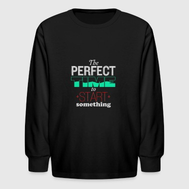 The perfect time to star something - Kids' Long Sleeve T-Shirt