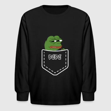 pepe in a pocket - Kids' Long Sleeve T-Shirt