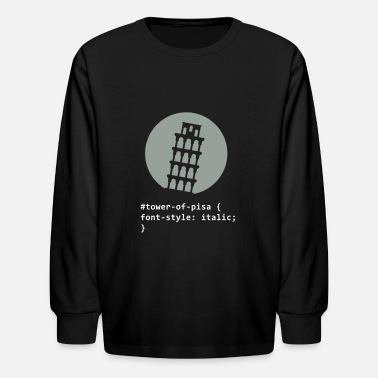 Inclined Tower The Tower Of Pisa - Kids' Longsleeve Shirt