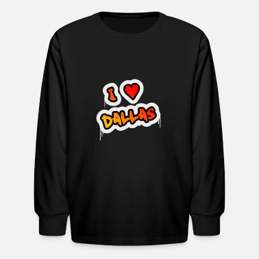 I love Dallas - Kids' Longsleeve Shirt