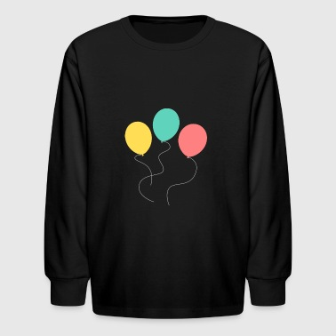 A balloon, two balloons, three balloons! - Kids' Long Sleeve T-Shirt
