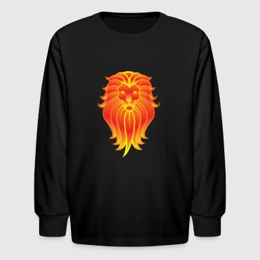 Lion Flames - Kids' Long Sleeve T-Shirt