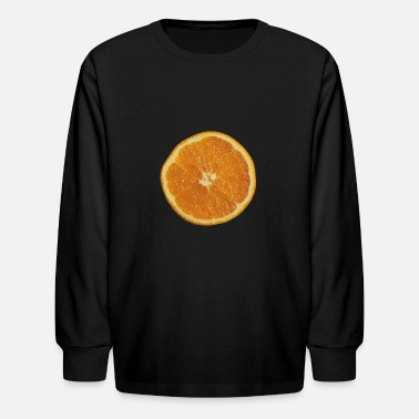 Orange without shadow - Kids' Longsleeve Shirt