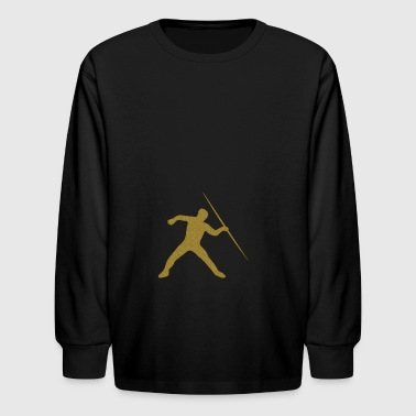 Golden Javelin Throw - Kids' Long Sleeve T-Shirt