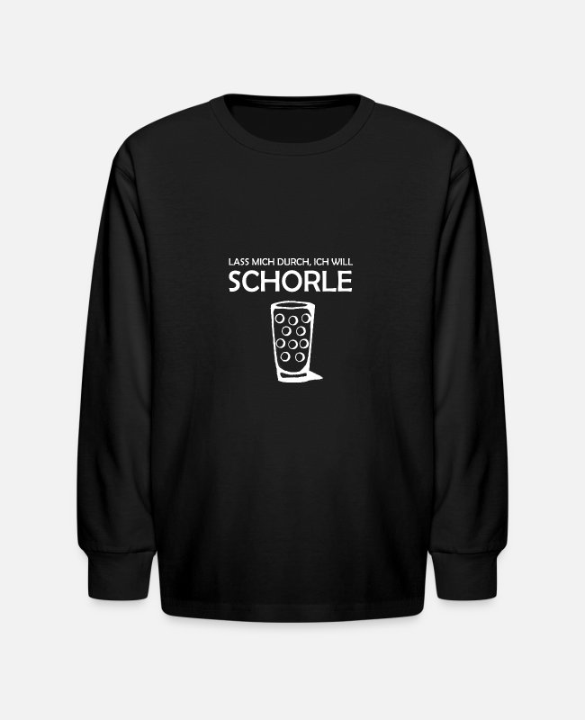 Wine Long-Sleeved Shirts - Pfälerzer wine wine festival Schobbe Pfalz gift - Kids' Longsleeve Shirt black