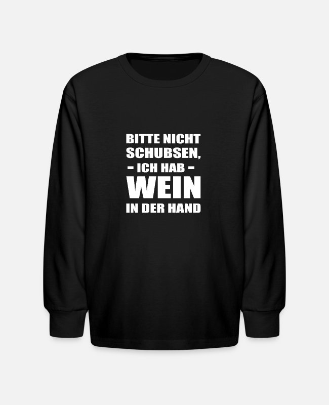 Wine Long-Sleeved Shirts - Schorle Wine Festival Palatinate Wine Schobbe Gift - Kids' Longsleeve Shirt black