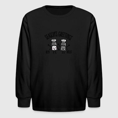 Season's greetings - Kids' Long Sleeve T-Shirt