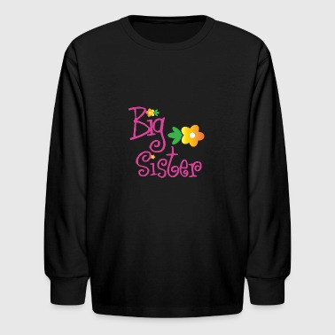 Big Brother Big Sister Big Sister Flowers - Kids' Long Sleeve T-Shirt