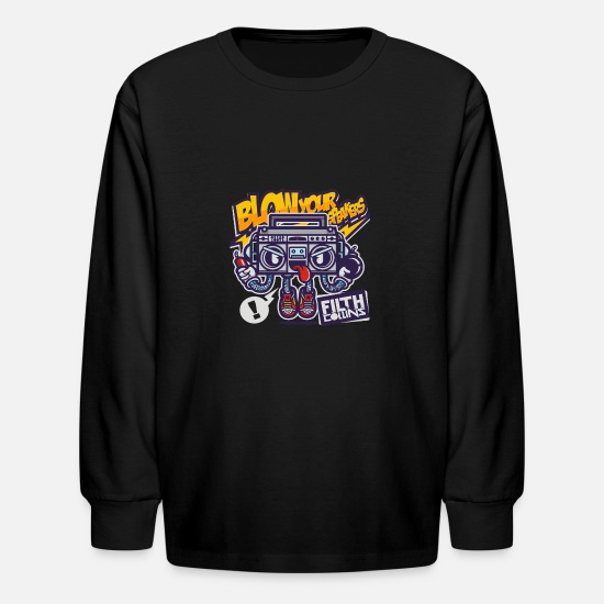 Your Mom Long-Sleeve Shirts - Blow Your Speakers - Kids' Longsleeve Shirt black
