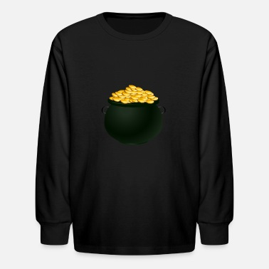 Golden Coin Coins - Kids' Longsleeve Shirt