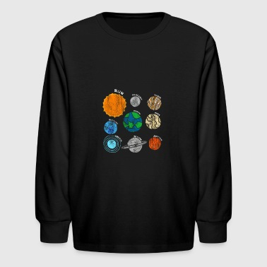 Planets Of Our Solar System Outer Space T-shirt - Kids' Long Sleeve T-Shirt