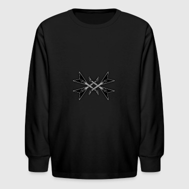metal music - Kids' Long Sleeve T-Shirt