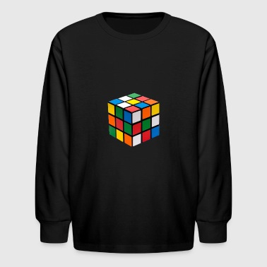 Cube Puzzle - Kids' Long Sleeve T-Shirt