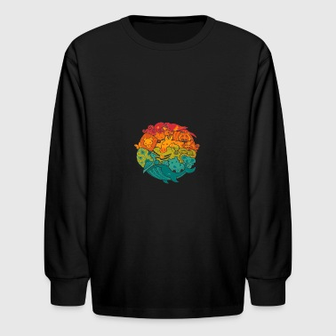 animal art - Kids' Long Sleeve T-Shirt