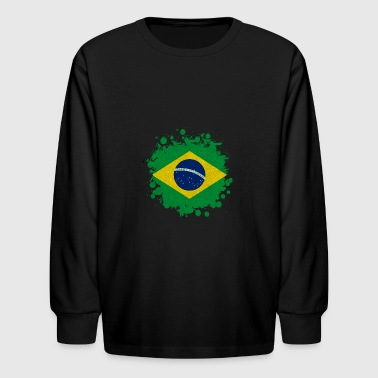 Brazil blob - Kids' Long Sleeve T-Shirt