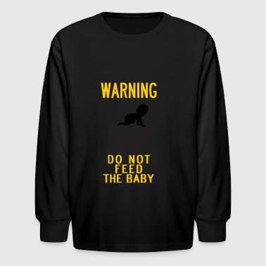 Warn Baby warning do not feed the bear and baby YELLOW - Kids' Long Sleeve T-Shirt