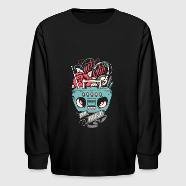 Music Club not only for music Producer Dance Club DJ Radio - Kids' Long Sleeve T-Shirt