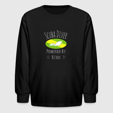 Powered by Nitrox, Diver, Scuba, diving, EAN - Kids' Long Sleeve T-Shirt