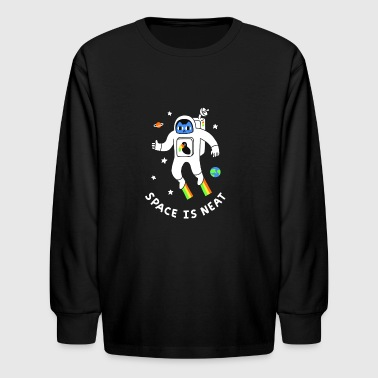 Space Is Neat - Kids' Long Sleeve T-Shirt
